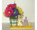 Buy Gift Baskets - Painted Planter Silk Flower Candle Plush Arrangement Gift