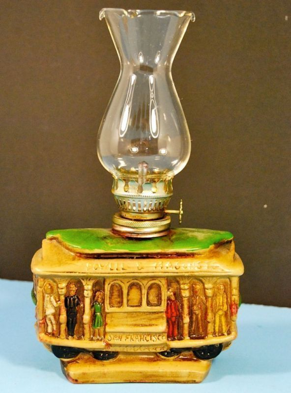 VINTAGE MADE IN JAPAN SAN FRANCISCO CABLE CAR OIL LAMP
