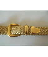 Ladies Fashion Belt Braided Gold 38 x 1 Size Large