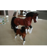 1996 Empire Industries Mama Clydesdale & Baby Horse Figurine - $6.99