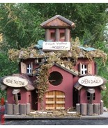 Birdhouse 2 Story Wood Vineyard Wine Villa  - $19.56