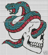 Bead Pattern Snake & Skull Loom Stitch Tattoo D... - $0.00