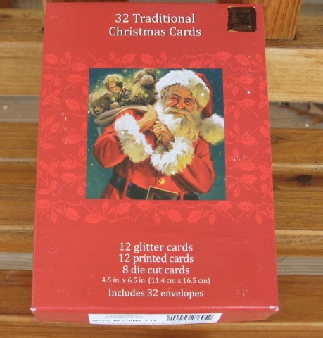 Box of 32 Christmas Cards 8 Different Designs with Mailing Envelopes