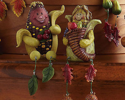 Image 1 of Autumn/fall Characters Collectible Sitter Set
