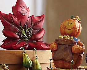 Image 2 of Autumn/fall Characters Collectible Sitter Set