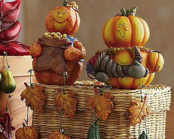 Image 3 of Autumn/fall Characters Collectible Sitter Set