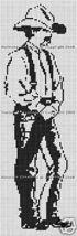 Bead Pattern Western Lone Cowboy Loom Stitch De... - $0.00