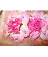 2 Vintage Millinery Hat Flowers Hot Pink Tropical - $8.70