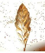 24 Vintage Gold Foil Leaves Christmas Ornament-... - $11.31