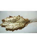 12 Vintage Gold Foil Christmas Holly Leaf Paper... - $10.39