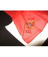 Vintage Handkerchief Red White Blue USA