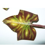 Vintage Millinery Flower Linen Ivy Leaves Yello... - $9.64
