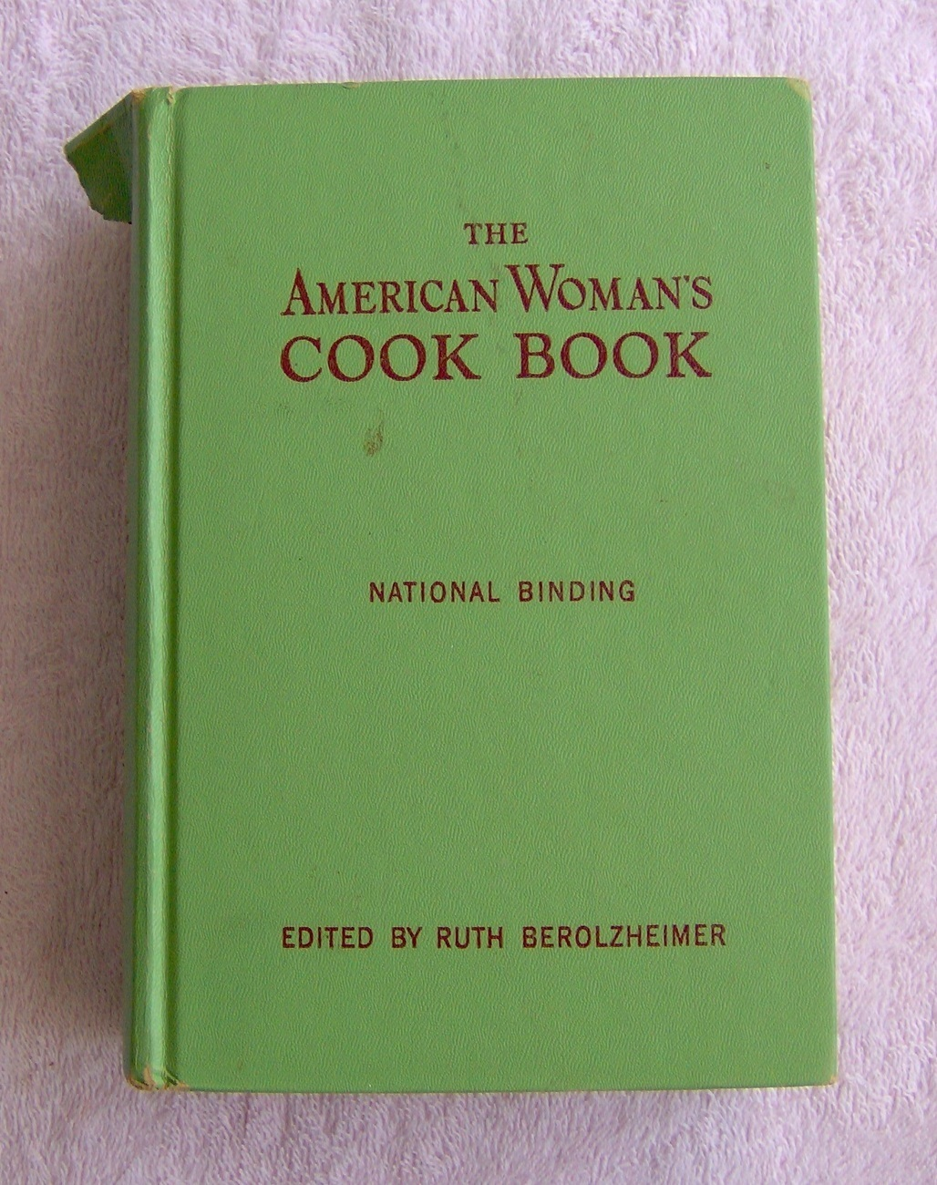 Hardcover Cookbook : American woman s cook book vintage hardcover cookbooks