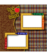 Back to School ~ Digital Scrapbooking Quick Pag... - $3.00