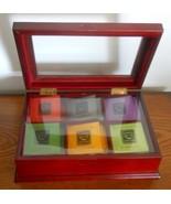 New Mahogany Tea Caddy with Assortment of Tea Bags - £35.72 GBP