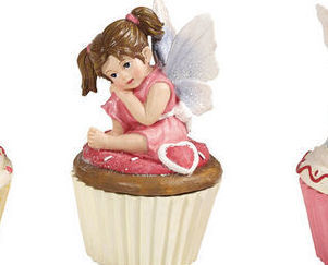 Cupcake Fairy Collectible Trinket Box  Pink Holding face