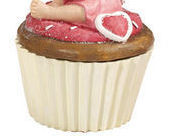 Image 2 of Cupcake Fairy Collectible Trinket Box  Pink Holding face