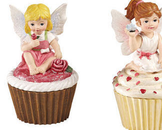 Cupcake Fairy Collectible Trinket Box  Red Shirt