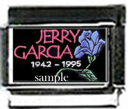 in memory JERRY GARCIA CUSTOM 9mm ITALIAN CHARMS