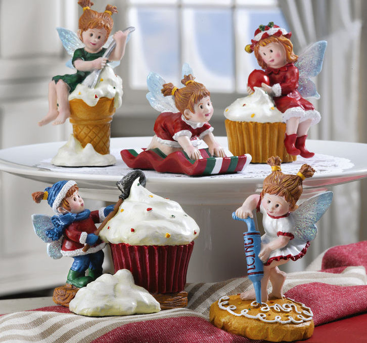 5pc Treat Fairy Kitchen Baking Collectible Holiday Figurines