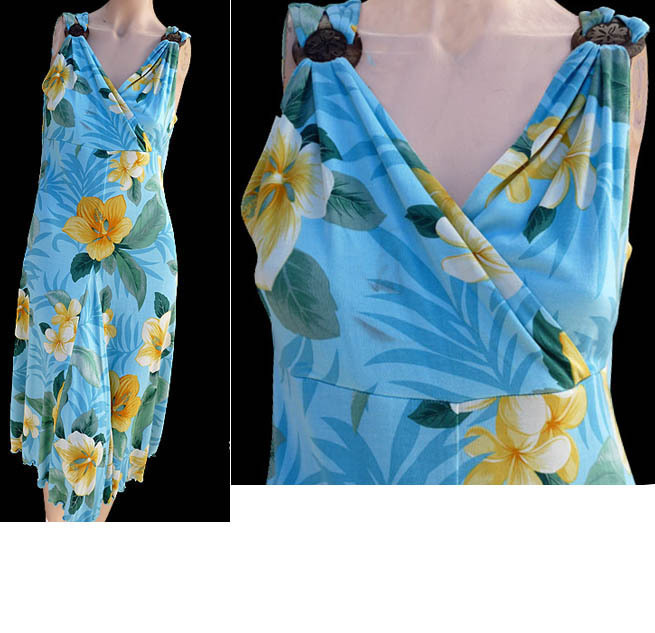 Tommy Bahama Dress  8 10 Lush Limbo Silk Bali Blue NWT