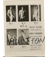 Beefcake Fred Frandac Vintage Photo Nude Model ... - $9.99