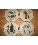 Norman Rockwell set of 4 SEASONS PLATES 1979 Ch... - $99.99
