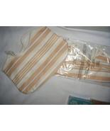 Set of 2 AVON Beige Yellow Stripe Medium Size P... - $14.99