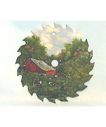 Hand Painted Saw Blade Spring Cow Farm Scene Order - $45.00