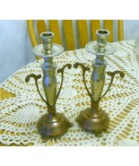 Candle Holders Set Silver Bronze - $55.00