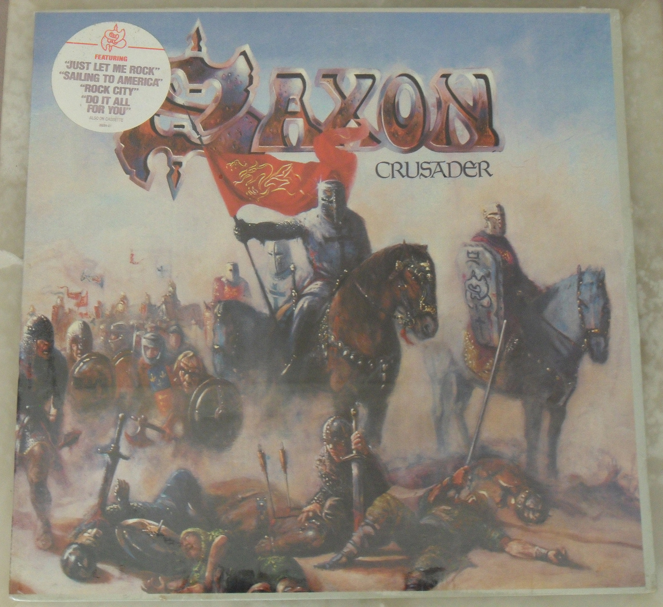 SAXON * Crusader * Sealed LP Record * Carrere * Heavy Metal