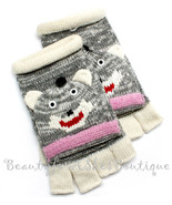 KIDS LADIES FINGERLESS KNIT WARM WINTER HAND GL... - $16.95