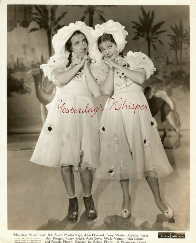 Martha Raye Wally Vernon Drag Mountain Music Photo
