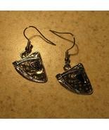 EARRINGS BLACK GEMSTONE DANGLE PIERCED #377 - $8.99