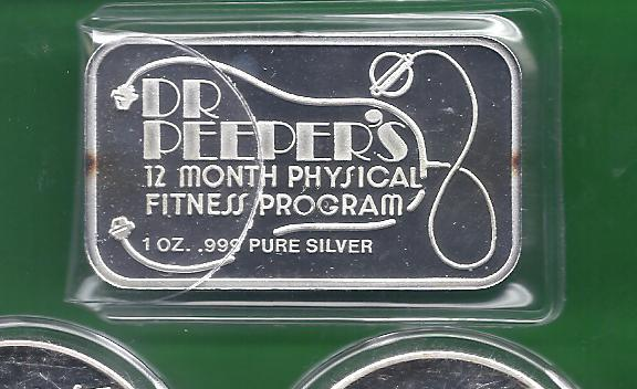 Dec.Dr Peeper's Nude 1 oz .999 pure silver  air-tite 1REFCO