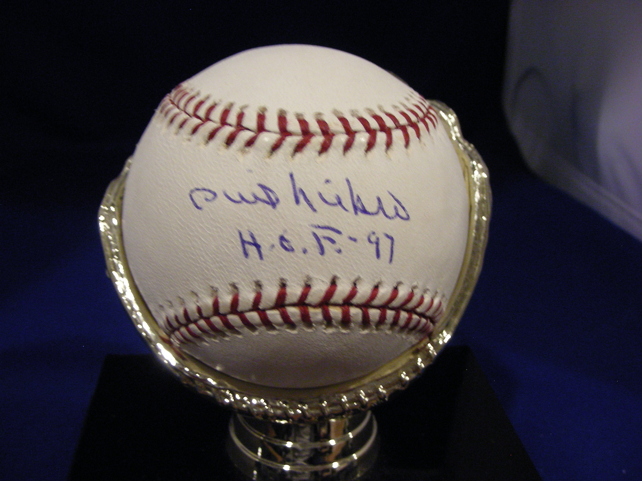 PHIL NIEKRO HOF 1997 PITCHER YANKEES BRAVES SIGNED AUTO BASEBALL TRISTAR & MLB