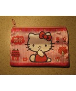 PURSE GIRLS PINK HELLO KITTY ZIPPERED COIN PURS... - $4.99