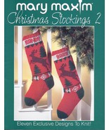 Mary Maxim Christmas Stockings 2 Knitting Patte... - £24.03 GBP