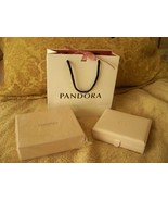 Authentic Pandora Pink Leather Jewelry Box Case Brand New in Box - $35.00