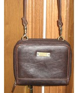 WALLET/MINI-PURSE BROWN LEATHER by