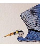 Quilled Blue Heron in Flight  wall art handcraf... - $175.00