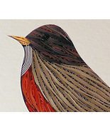 Quilled Robin handcrafted framed wall art - $175.00