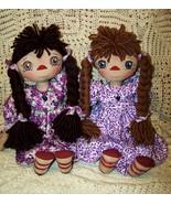 Newest Pattern   Anya    Raggedy  Folk Art Doll... - $11.95