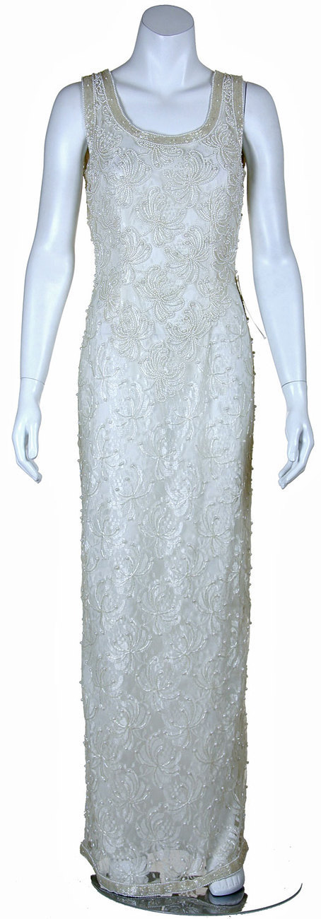 Mother Bride Floral Print Lace Silk Chiffon Formal Dress sz
