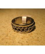 RING MEN WOMEN UNISEX CHAIN LINK STAINLESS STEE... - $9.99