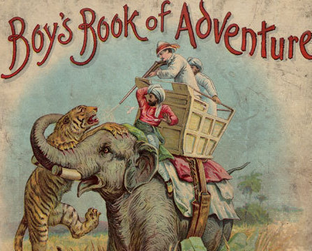 Lothrop Publishing Antique Childrens Boys Book of Adventure