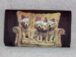 Golden_retriever_billfold_clutch_purse_santa_hats_1_thumb200