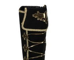 Microfiber_boots_black_and_gold_pirate_boots_knee_high_womens_boots