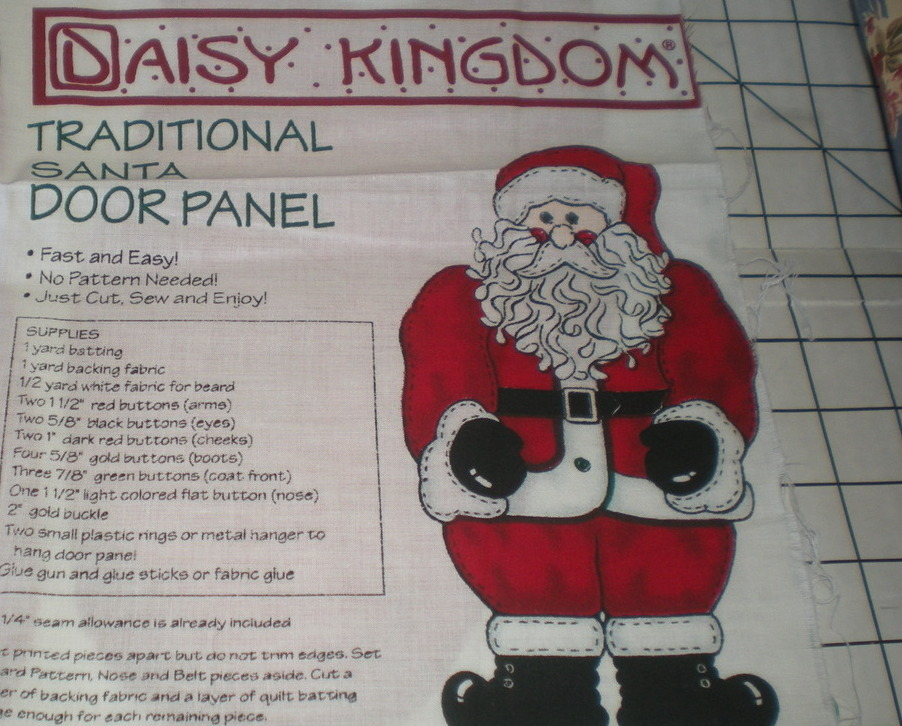 OOP Daisy Kingdom Christmas Fabric Traditional Santa Door Panel