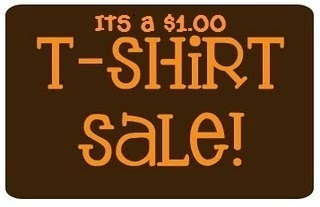 $1.00  t-shirt   sale